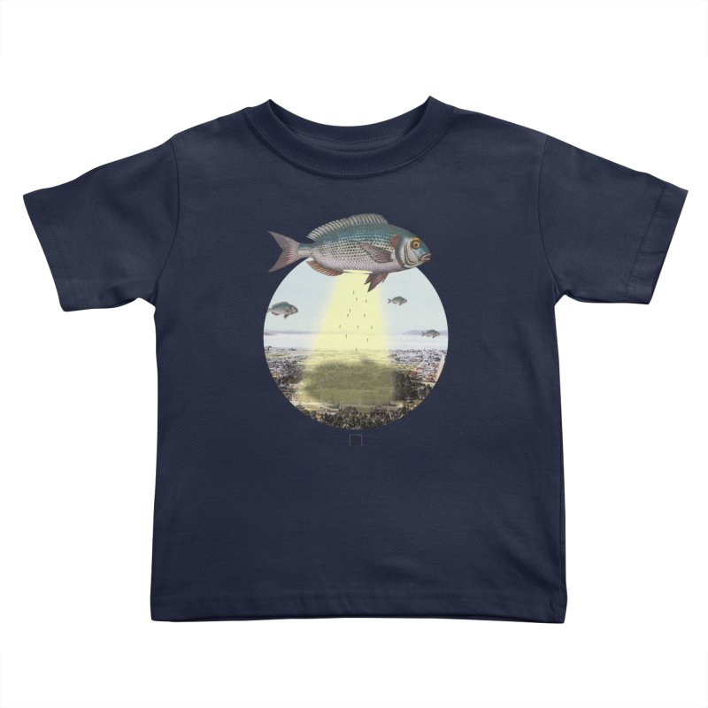 A Fishy Abduction Kids Toddler T-Shirt by sigmablade collage