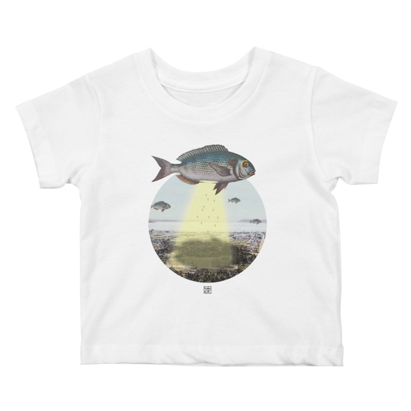 A Fishy Abduction Kids Baby T-Shirt by sigmablade collage