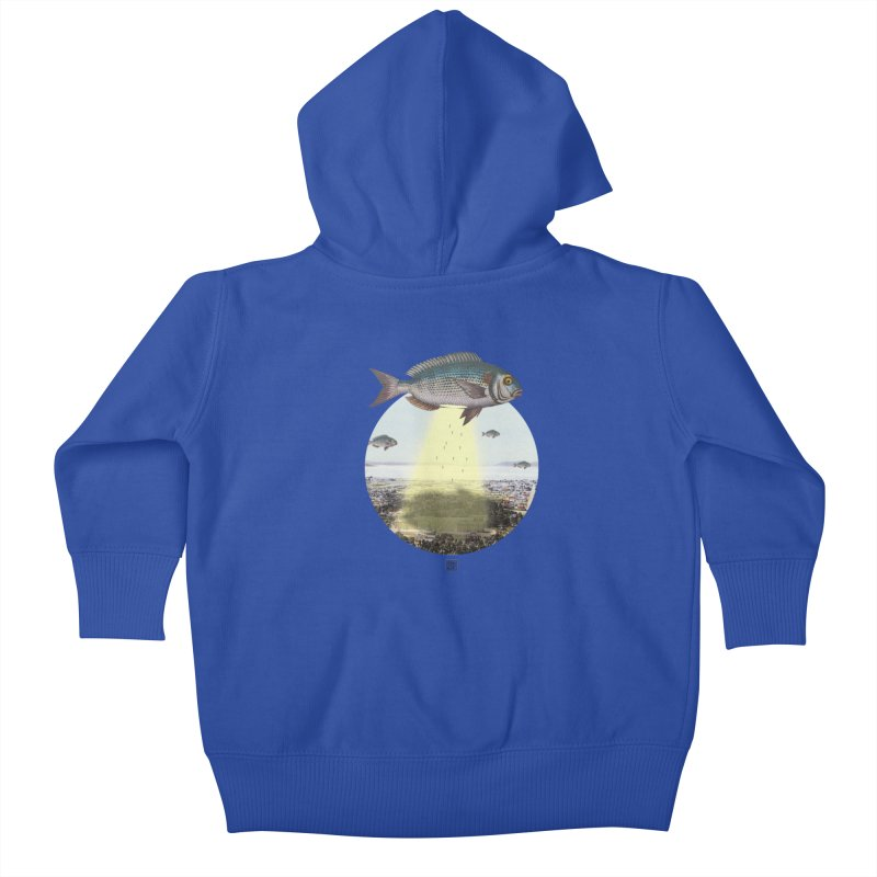 A Fishy Abduction Kids Baby Zip-Up Hoody by sigmablade collage