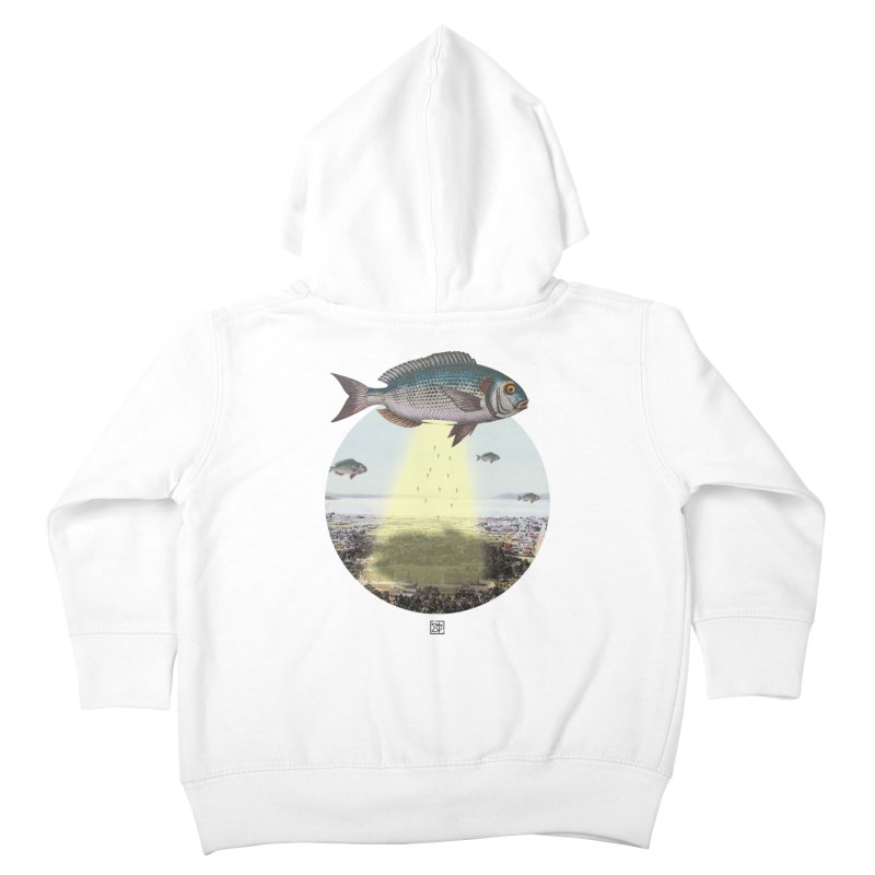 A Fishy Abduction Kids Toddler Zip-Up Hoody by sigmablade collage