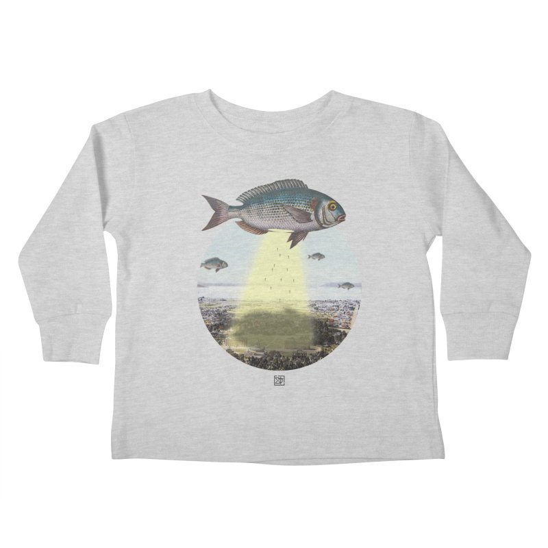 A Fishy Abduction Kids Toddler Longsleeve T-Shirt by sigmablade collage