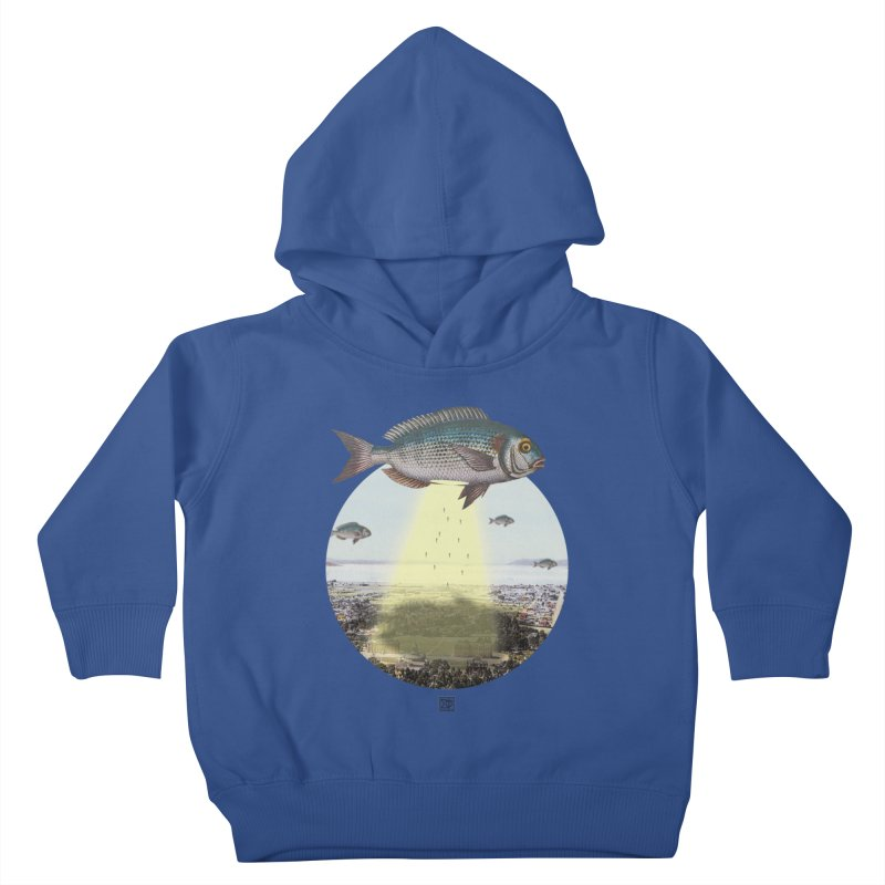 A Fishy Abduction Kids Toddler Pullover Hoody by sigmablade collage