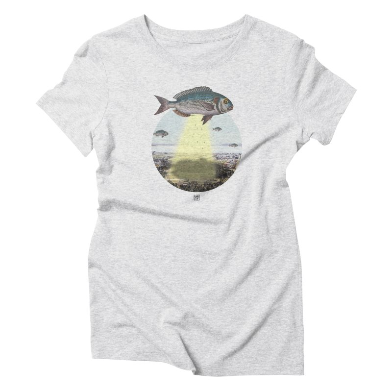 A Fishy Abduction Women's T-Shirt by sigmablade collage