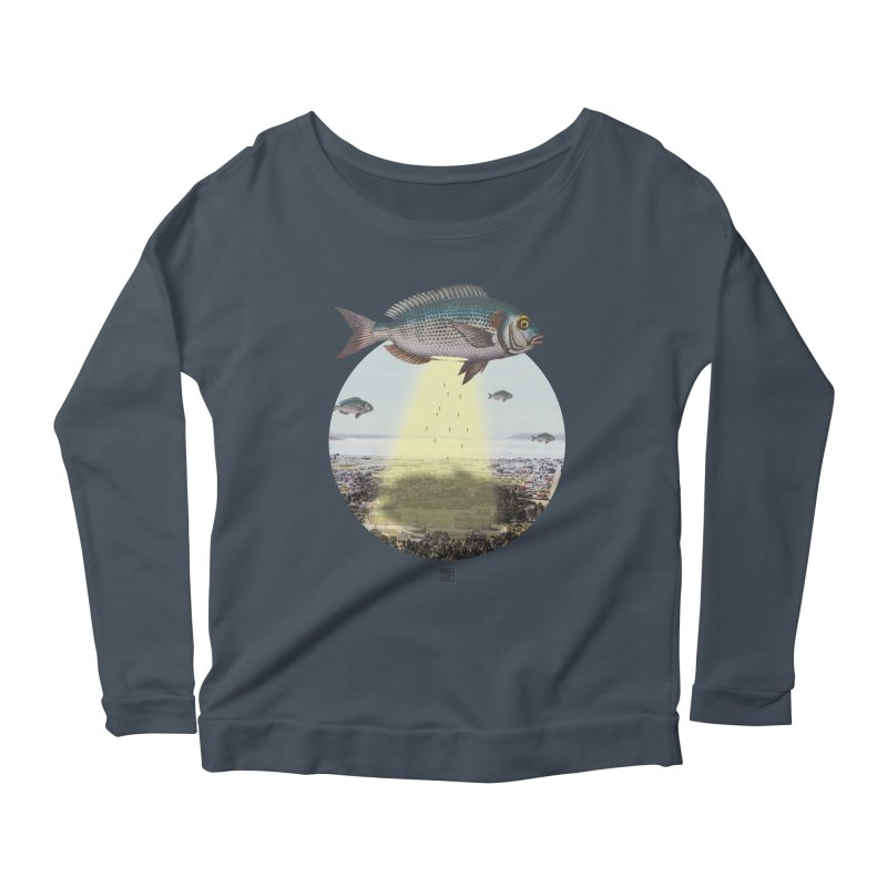 A Fishy Abduction Women's Longsleeve Scoopneck  by sigmablade collage