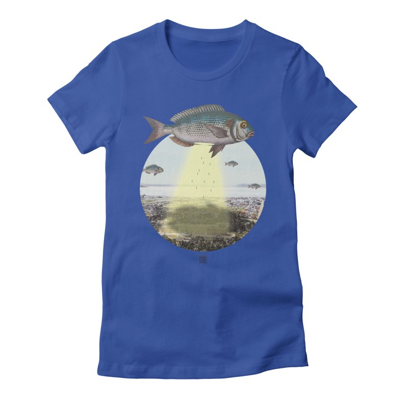 A Fishy Abduction Women's Fitted T-Shirt by sigmablade collage