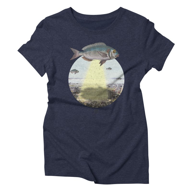 A Fishy Abduction Women's Triblend T-shirt by sigmablade collage