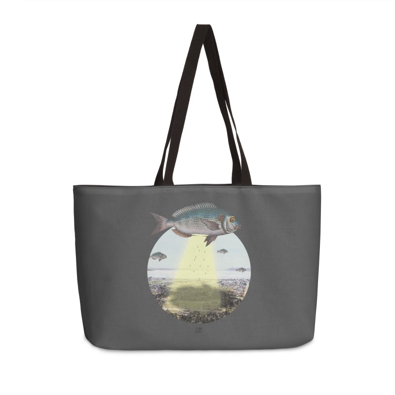 A Fishy Abduction Accessories Weekender Bag Bag by sigmablade collage