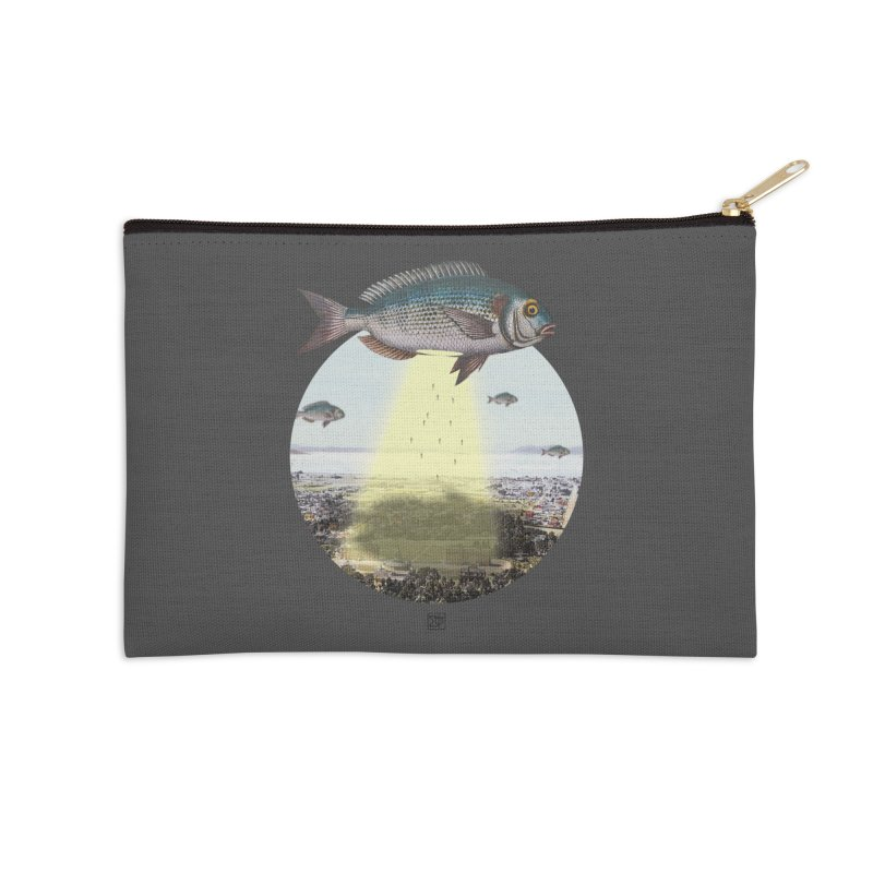 A Fishy Abduction Accessories Zip Pouch by sigmablade collage
