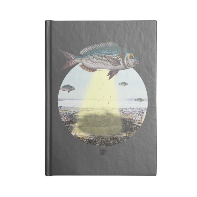 A Fishy Abduction Accessories Blank Journal Notebook by sigmablade collage