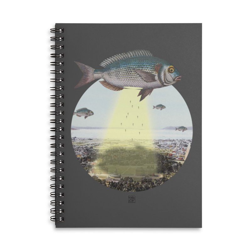 A Fishy Abduction Accessories Lined Spiral Notebook by sigmablade collage