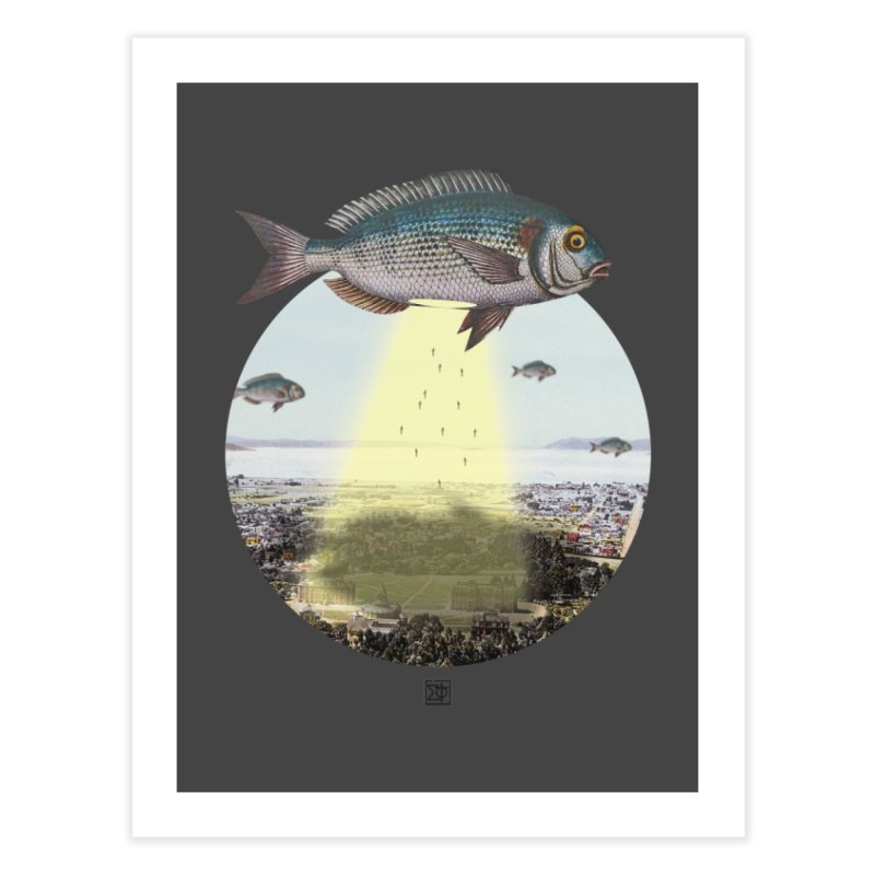 A Fishy Abduction Home Fine Art Print by sigmablade collage