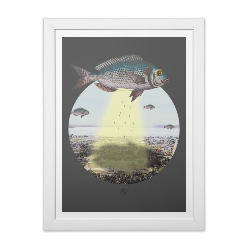 A Fishy Abduction Home Framed Fine Art Print by sigmablade collage