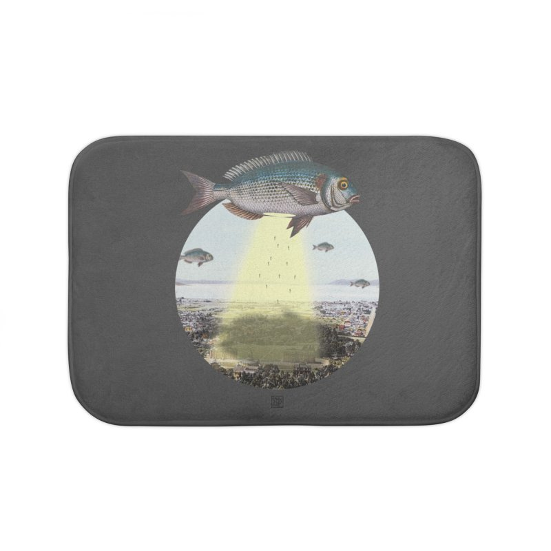A Fishy Abduction Home Bath Mat by sigmablade collage