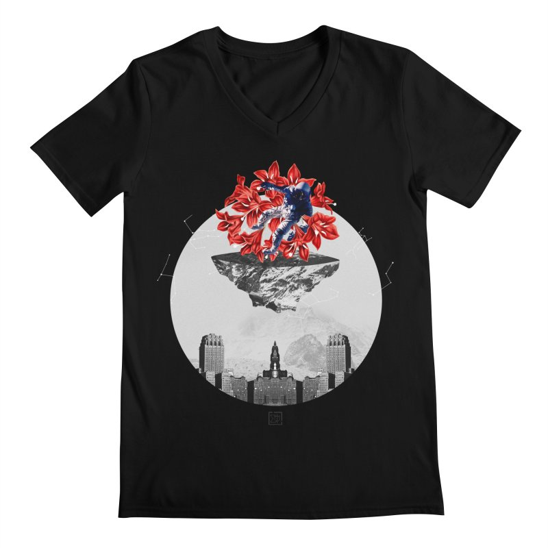 Tangled and Withering Men's Regular V-Neck by sigmablade collage