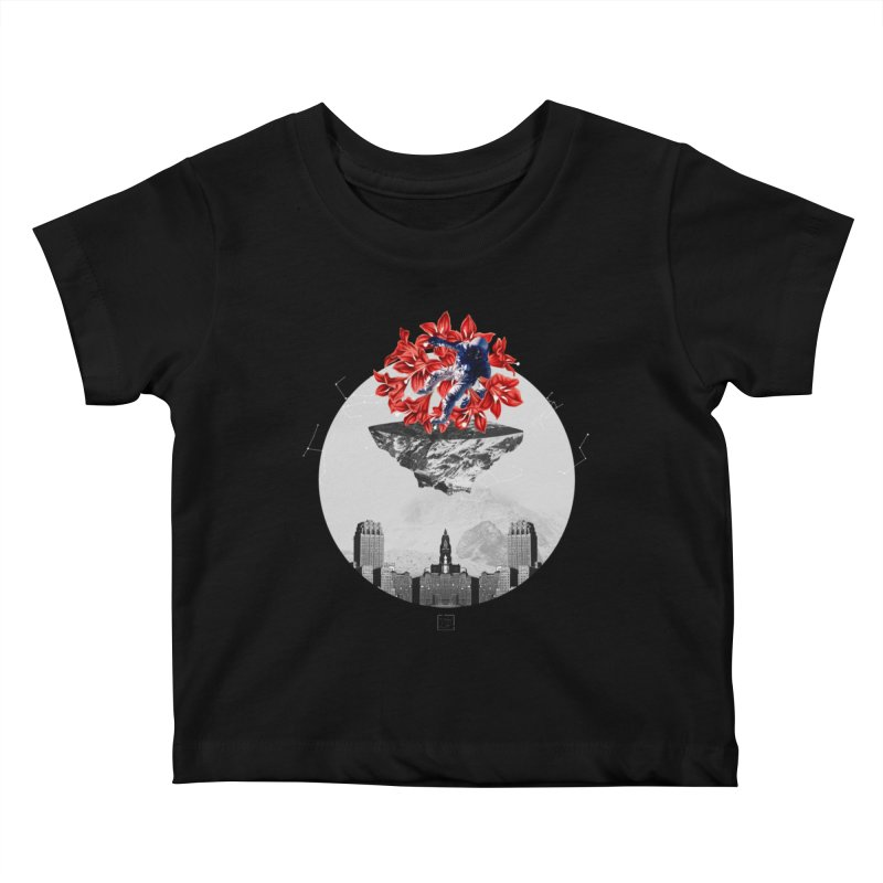 Tangled and Withering Kids Baby T-Shirt by sigmablade collage