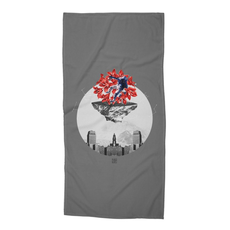 Tangled and Withering Accessories Beach Towel by sigmablade collage