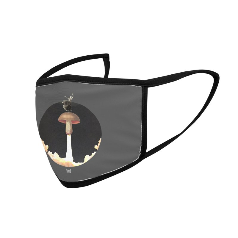 Mushroom Rocket Accessories Face Mask by sigmablade collage