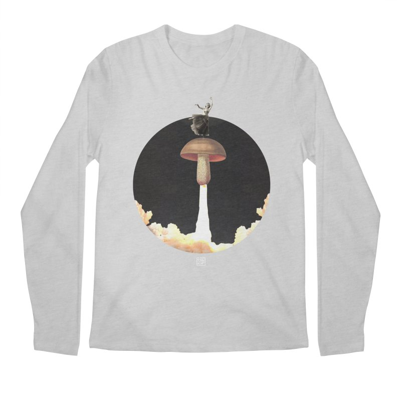 Mushroom Rocket Men's Longsleeve T-Shirt by sigmablade collage
