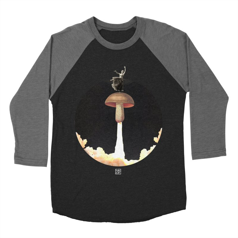 Mushroom Rocket Women's Baseball Triblend T-Shirt by sigmablade collage