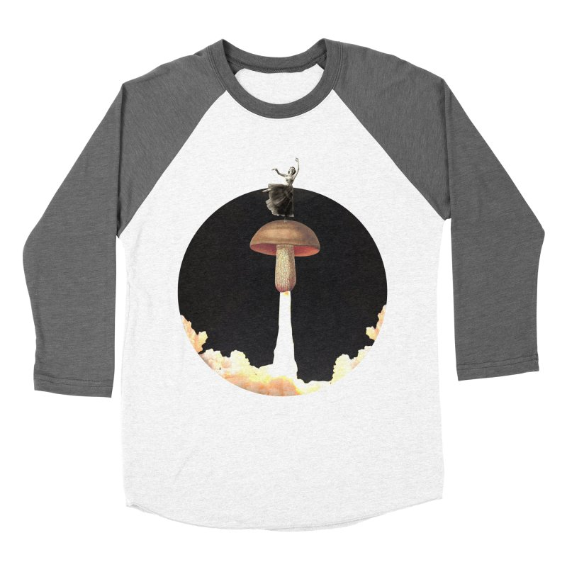 Mushroom Rocket Men's Baseball Triblend T-Shirt by sigmablade collage