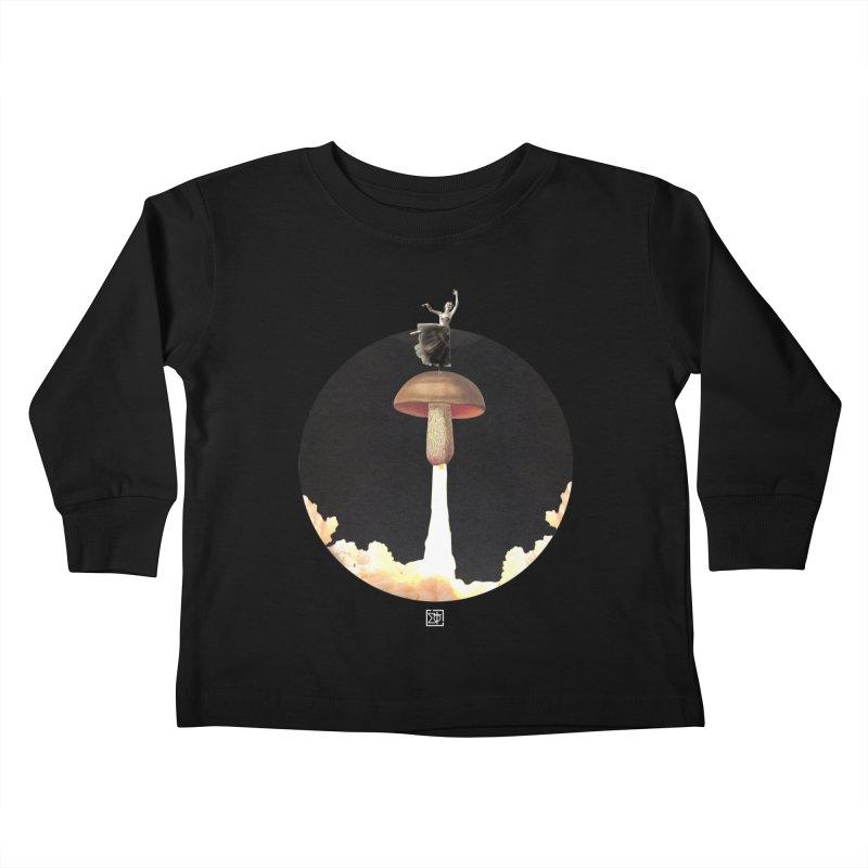 Mushroom Rocket Kids Toddler Longsleeve T-Shirt by sigmablade collage