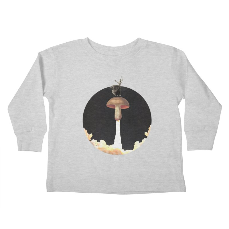 Mushroom Rocket Kids Toddler Longsleeve T-Shirt by sigmablade collage