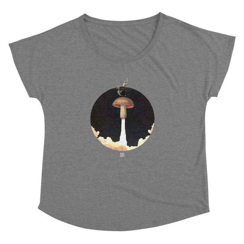 Mushroom Rocket Women's Dolman Scoop Neck by sigmablade collage