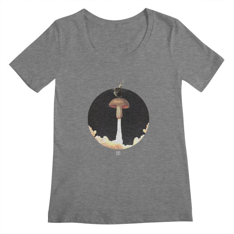 Mushroom Rocket Women's Scoopneck by sigmablade collage