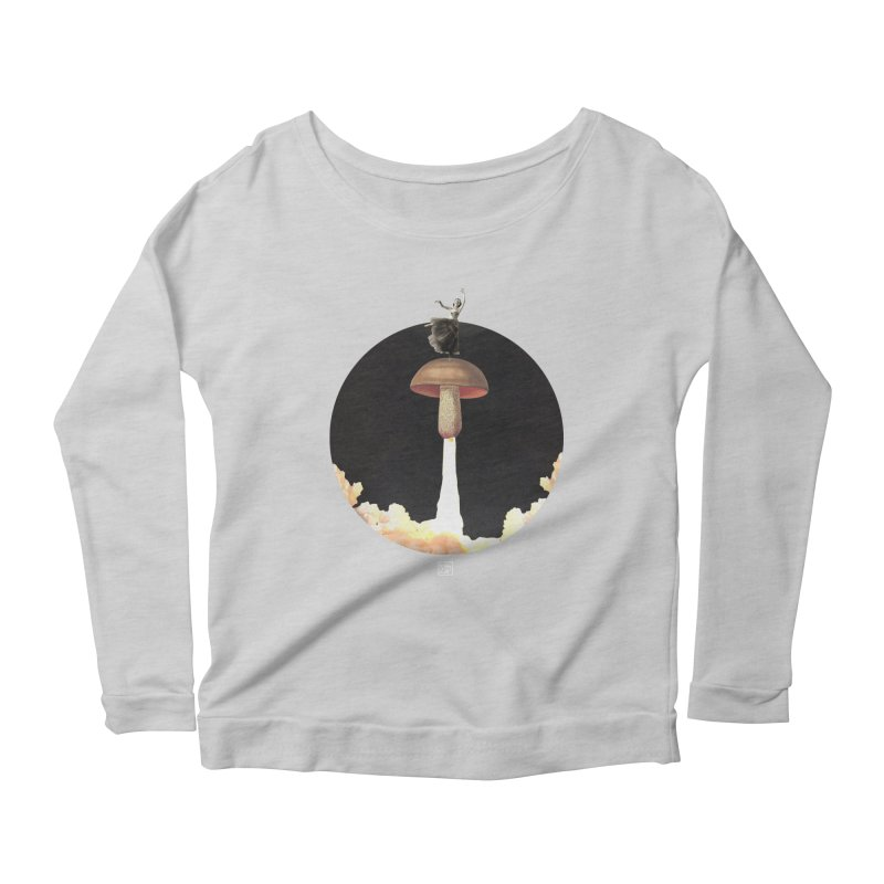 Mushroom Rocket Women's Longsleeve Scoopneck  by sigmablade collage