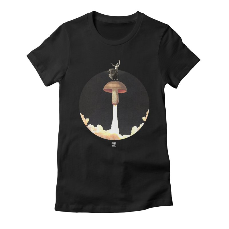 Mushroom Rocket Women's Fitted T-Shirt by sigmablade collage