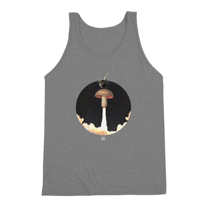 Mushroom Rocket Men's Triblend Tank by sigmablade collage