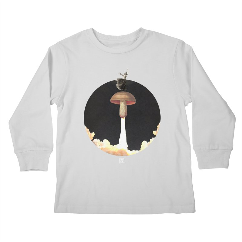 Mushroom Rocket Kids Longsleeve T-Shirt by sigmablade collage
