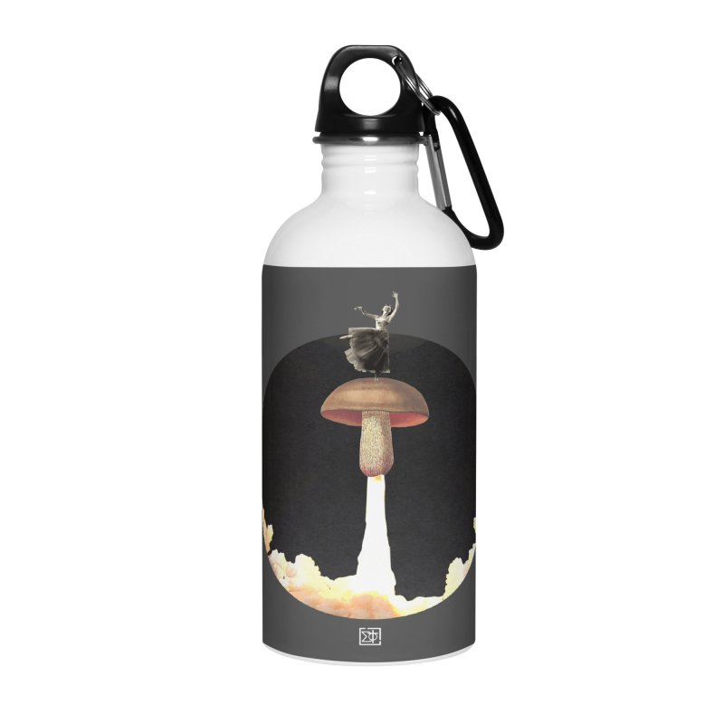 Mushroom Rocket Accessories Water Bottle by sigmablade collage