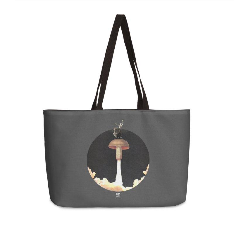 Mushroom Rocket Accessories Weekender Bag Bag by sigmablade collage