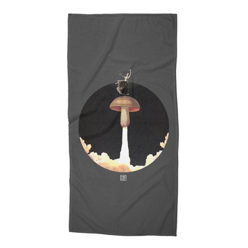 Mushroom Rocket Accessories Beach Towel by sigmablade collage