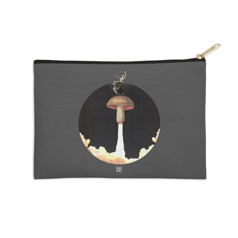 Mushroom Rocket Accessories Zip Pouch by sigmablade collage