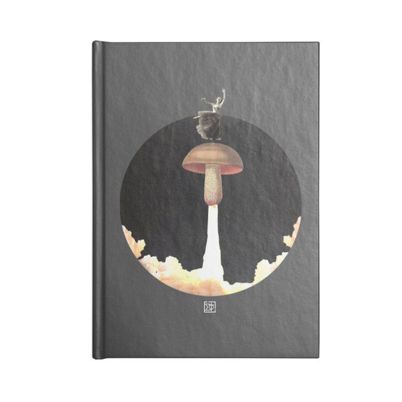 Mushroom Rocket Accessories Lined Journal Notebook by sigmablade collage