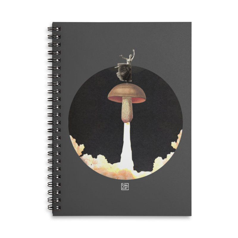 Mushroom Rocket Accessories Lined Spiral Notebook by sigmablade collage