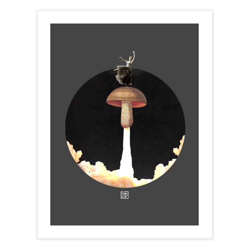Mushroom Rocket Home Fine Art Print by sigmablade collage