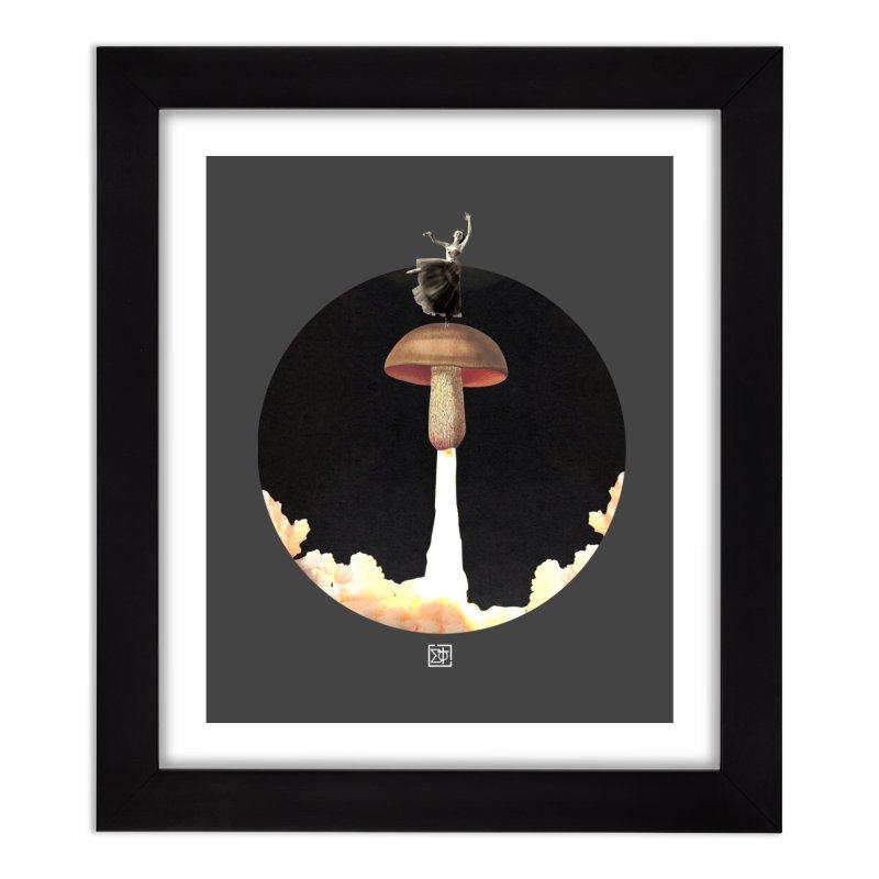 Mushroom Rocket Home Framed Fine Art Print by sigmablade collage