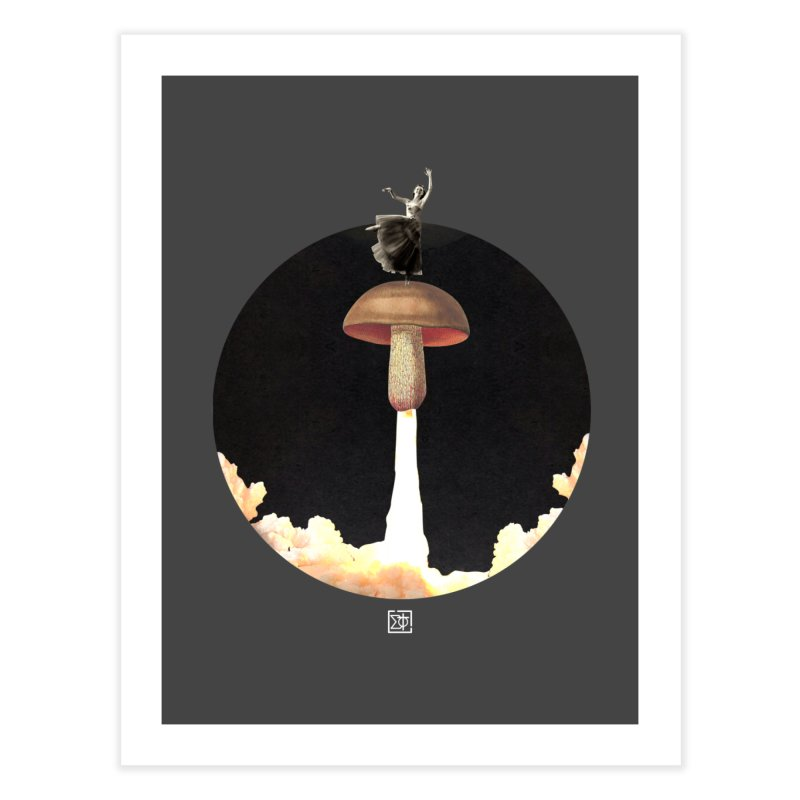 Mushroom Rocket Home Fine Art Print by sigmablade collage