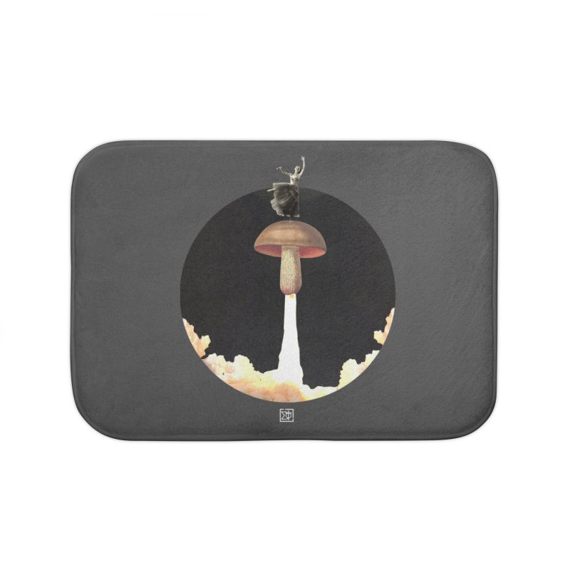 Mushroom Rocket Home Bath Mat by sigmablade collage