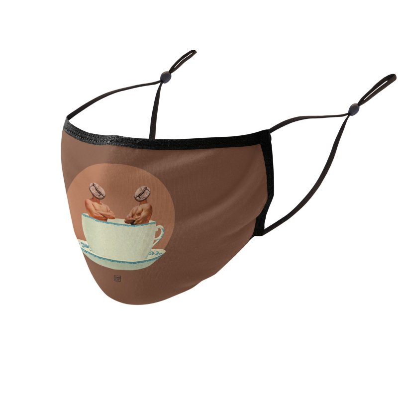 Coffee Connoisseurs Accessories Face Mask by sigmablade collage