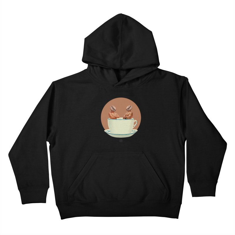 Coffee Connoisseurs Kids Pullover Hoody by sigmablade collage
