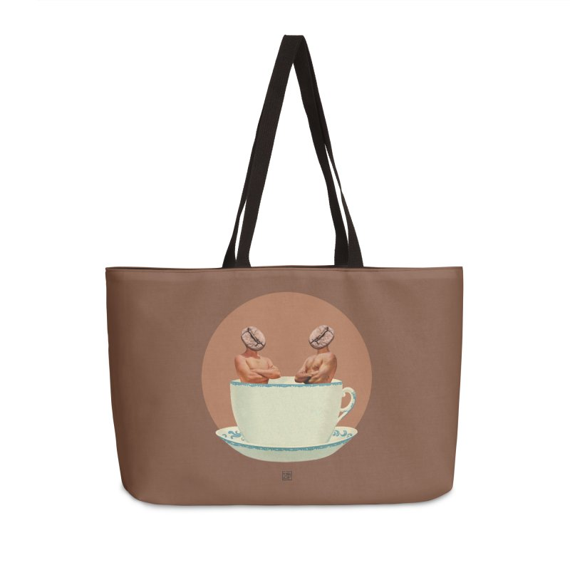 Coffee Connoisseurs Accessories Weekender Bag Bag by sigmablade collage