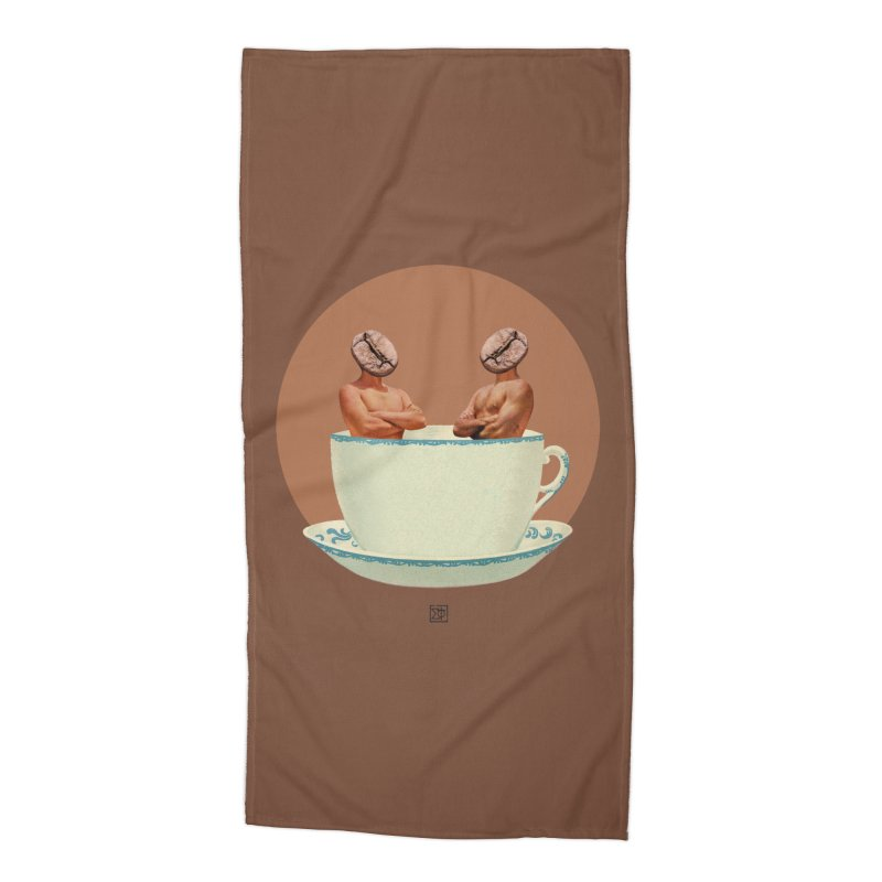 Coffee Connoisseurs Accessories Beach Towel by sigmablade collage