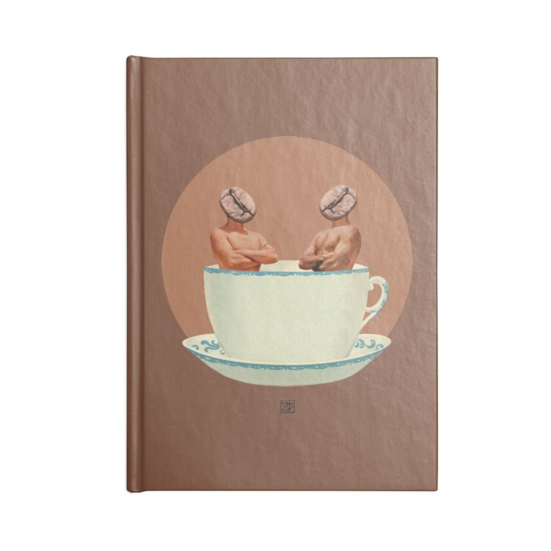 Coffee Connoisseurs Accessories Blank Journal Notebook by sigmablade collage