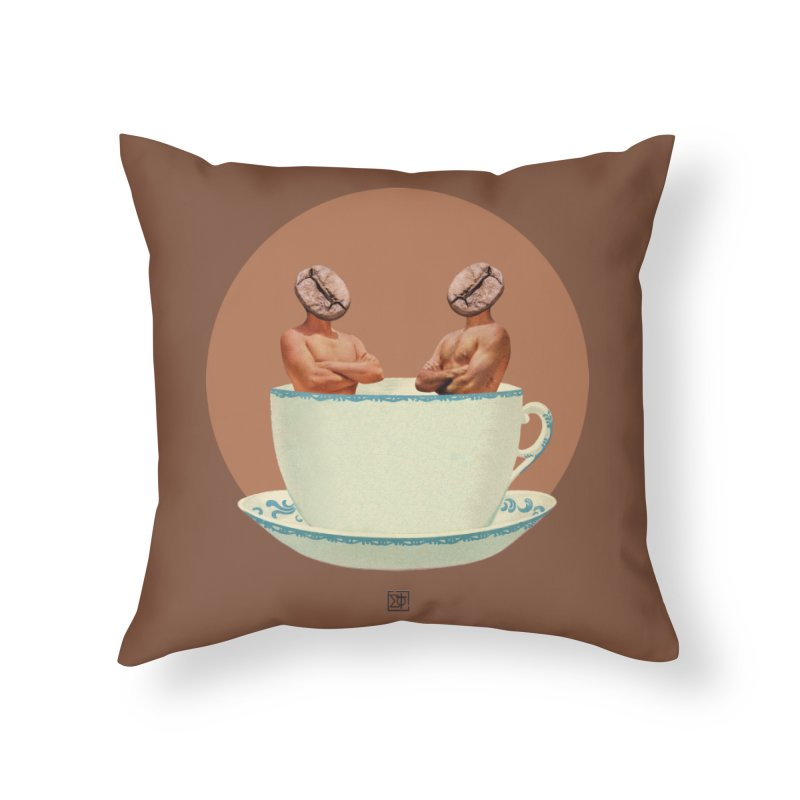 Coffee Connoisseurs Home Throw Pillow by sigmablade collage