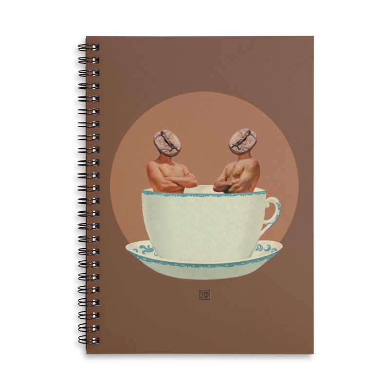 Coffee Connoisseurs Accessories Lined Spiral Notebook by sigmablade collage
