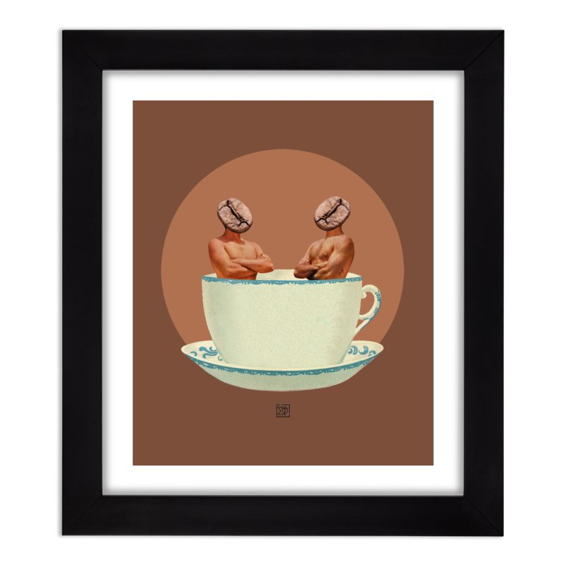 Coffee Connoisseurs Home Framed Fine Art Print by sigmablade collage